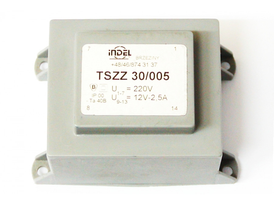 TRANSFORMATOR TSZZ 30/005 12V-2,5A TSZZ 30/005