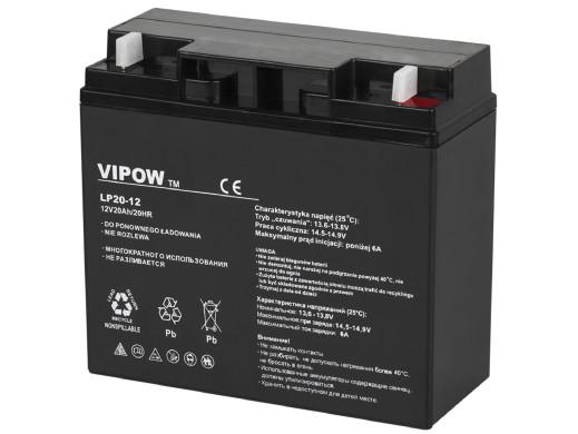 Akumulator żelowy 12V 20Ah Vipow