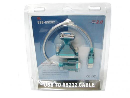 Adapter USB-RS232 z przejściówką DB25 Logilink