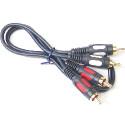 Przewód, kabel 2*2 cinch 0,5m ŁEZKA