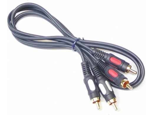 Przewód, kabel 2*2 cinch 1m łezka Vitalco