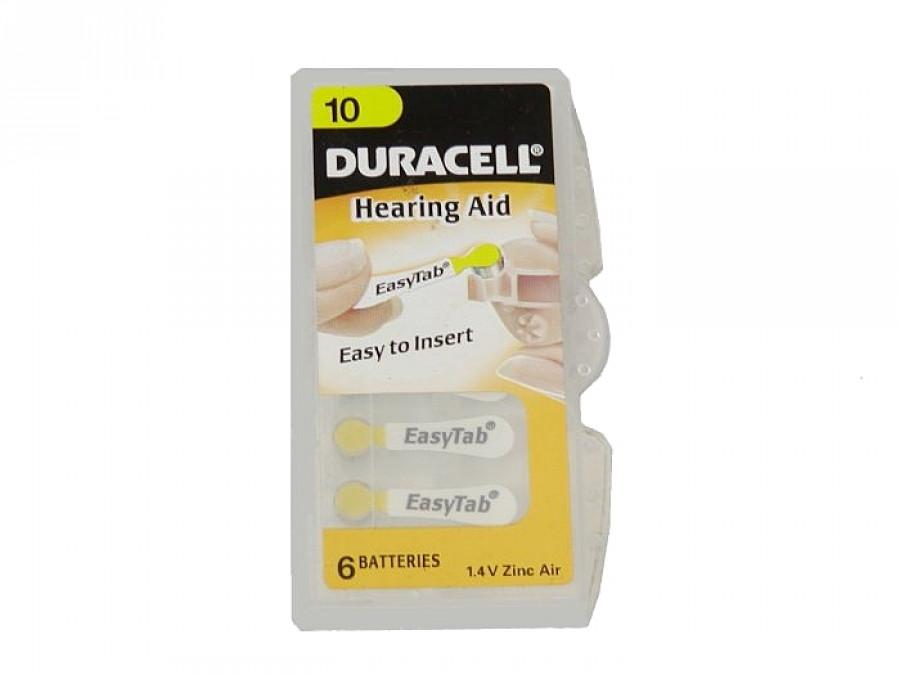 Bateria PR-10 DA10 do aparatu słuchowego Duracell