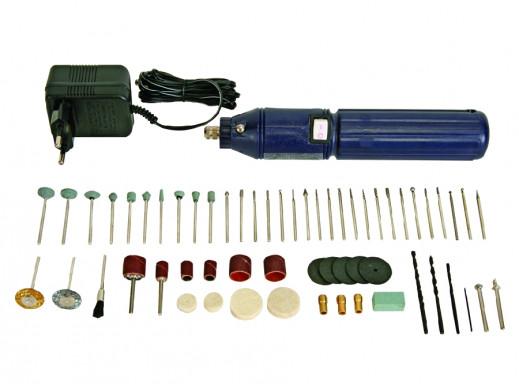 Wiertarka mini akumulatorowa z zestawem akcesoriów 62SZT