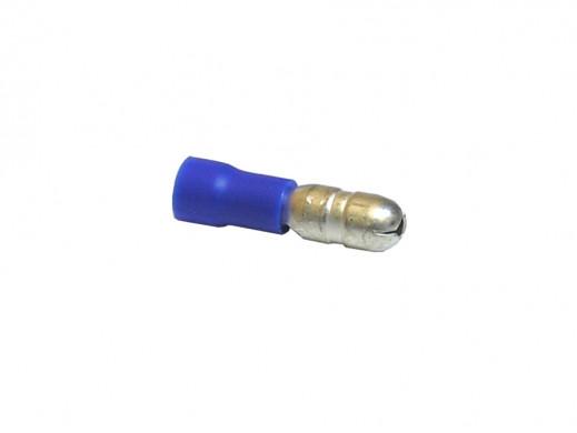 Konektor rurkowy męski FI5 601024 niebieski izolowany 601024