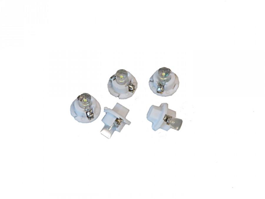 Dioda LED samochodowa 5mm biała B 8.4D-W w oprawce