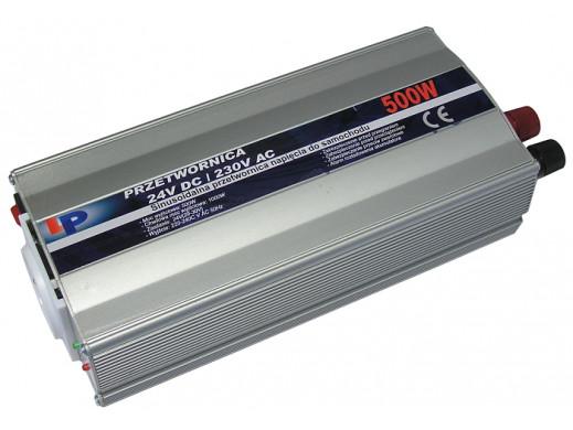Przetwornica samochodowa 24V/230V 500W