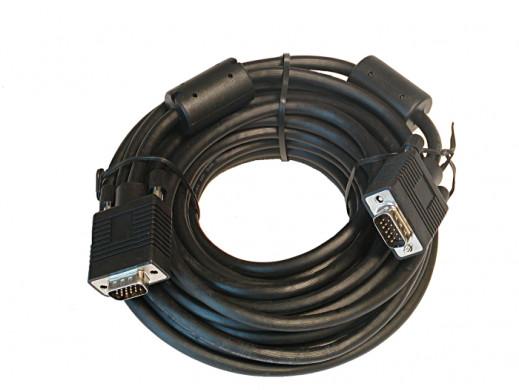 Przewód kabel do monitora SVGA-SVGA 10m z filtrami