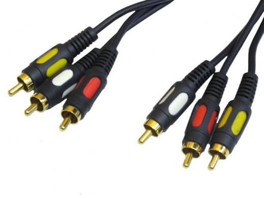 Przewód, kabel 3*3 cinch 1,5m łezka Vitalco