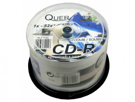 CD-R Quer 700/80 Cake BOx - 50szt