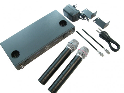 Mikrofon bezprzewodowy LS-87 dwukanałowy Azusa