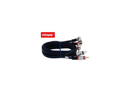 Przewód, kabel 2*2 cinch kątowy z żyłą sterującą 5m RKD260 blister Vitalco