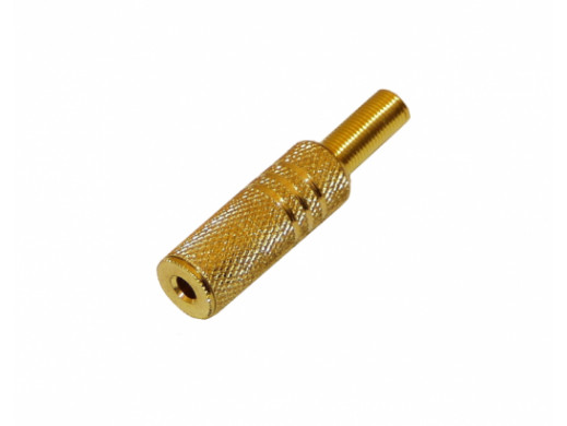 Gniazdo jack 3,5mm gold na...