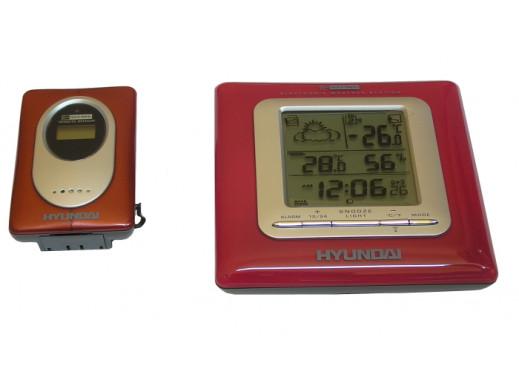 Stacja meteo pogody Hyundai Ws-c1909 czerwona bezprzewodowa