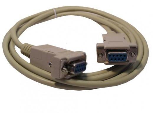 Przewód DB9F/DBF 1,8m Null modem