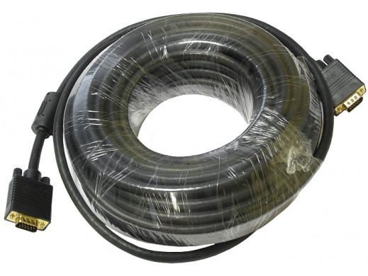 Przewód do monitora svga 20m MRS-166 złocony z filtrem