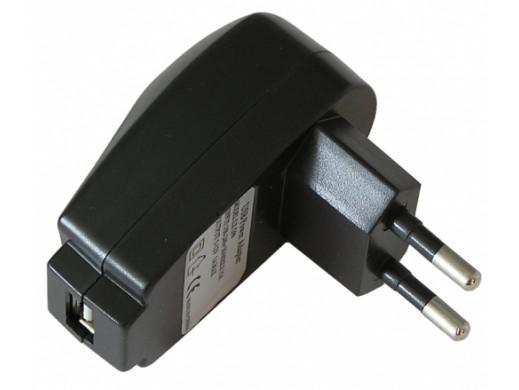 Zasilacz sieciowy USB 1000mA czarny lx G99
