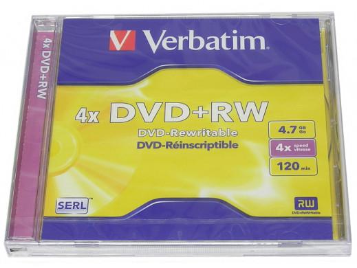 DVD +RW VERBATIM w opakowaniu SLIM