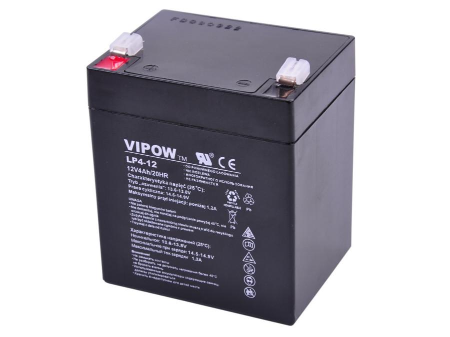 Akumulator żelowy 12V 4Ah Vipow