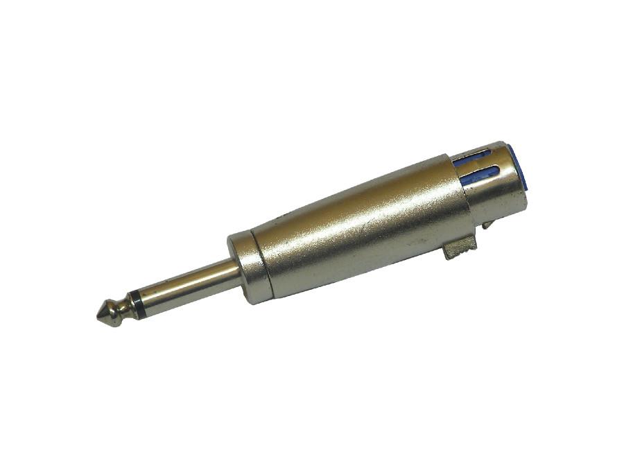 Redukcja wtyk jack 6,3mm mono gniazdo żeńskie xlr
