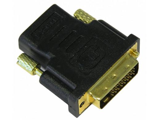 Adapter wtyk DVI gniazdo HDMI GOLD