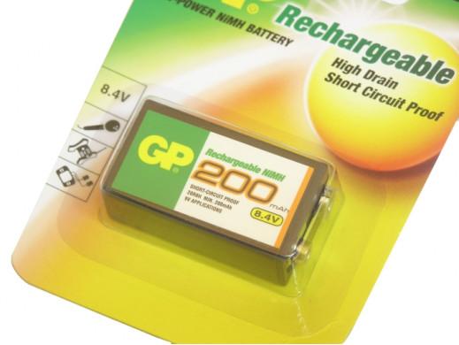 Akumulator r-9V 200mAh GP NiMH 20R8H