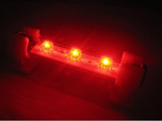 Neon LED FLUX 9cm Czerwony 12v