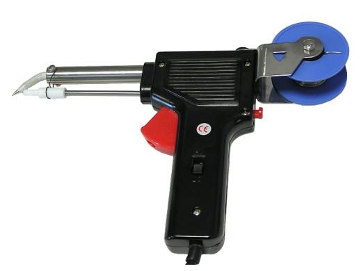 Lutownica pistoletowa z podajnikiem cyny i regulacją mocy 30-60W