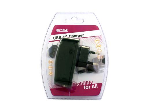 Ładowarka USB uniwersalna 230V 700mA