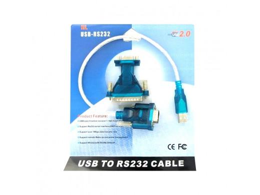 ADAPTER USB-RS232 HL (DB9M) NA PRZEWODZIE