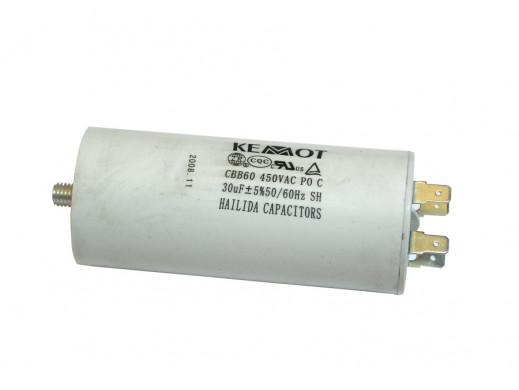 Kondensator rozruchowy 30uF 450V do silników jednofazowych