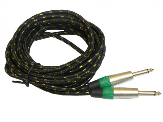 Przewód 6,3mm wtyk-wtyk 5m mono profesjonal