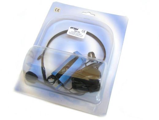 Mikrofonosłuchawka EM-105 wtyk z wysięgnikiem