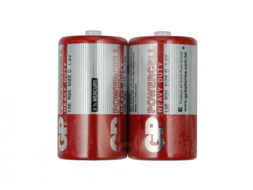 2 x baterie D / R20 GP PowerCell (taca)