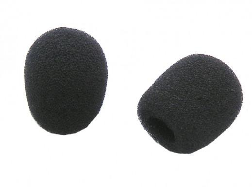 Gąbka na główkę mikrofonu mała czarna 5mm/15mm