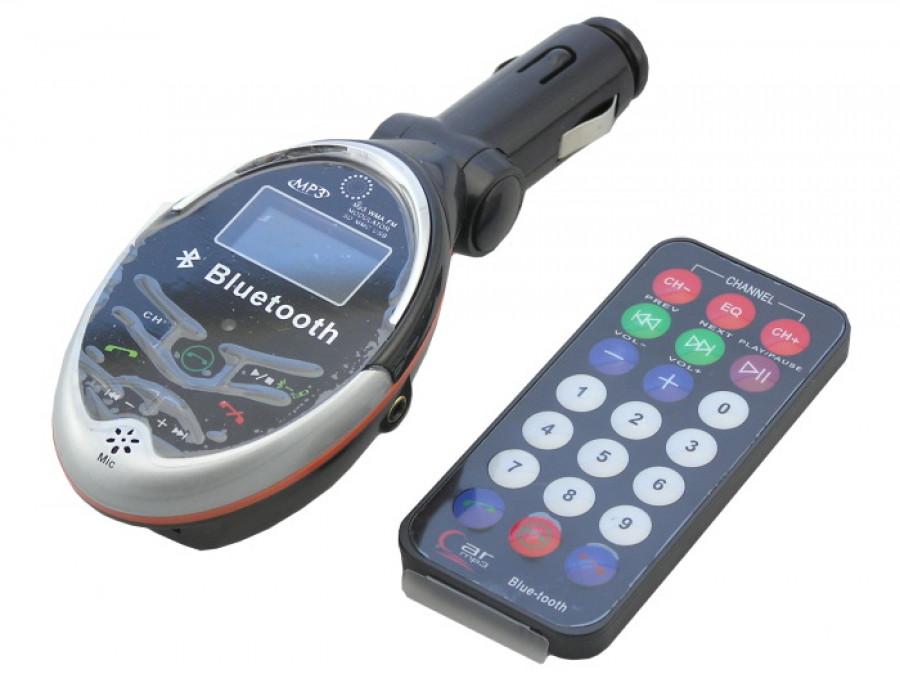 Transmiter FM z czytnikiem + bluetooth model 168