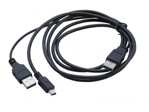 Przewód USB wtyk A wtyk A + mini USB 5pin  1,5M