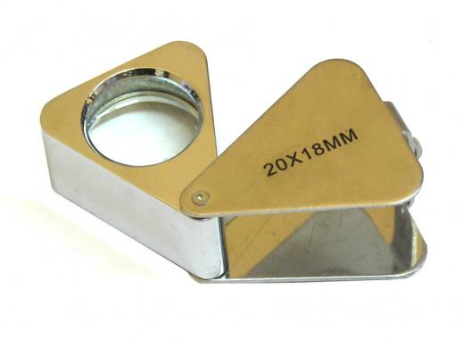 Lupa składana 18mm 20X metal
