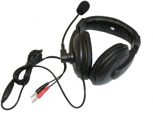 Słuchawki z mikrofonem...