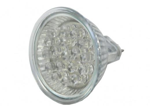 ŻARÓWKA 18 LED GU 5,3 12V 1,2W światło zimne
