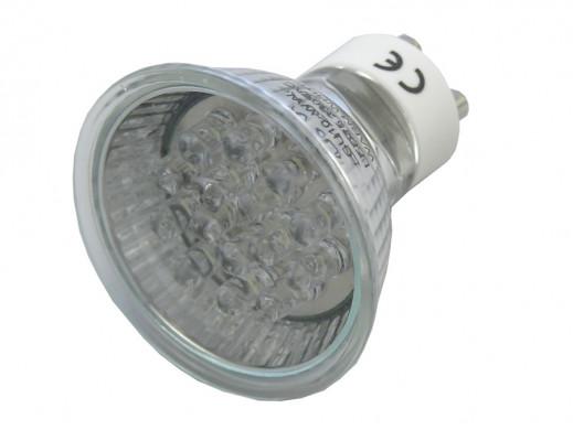 Żarówka 15 LED GU10 230V ciepły biały