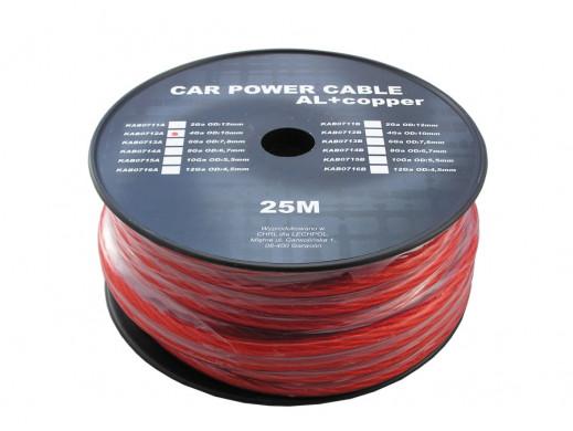 Kabel Power 4ga 10mm CU+AL czerwony Peiying