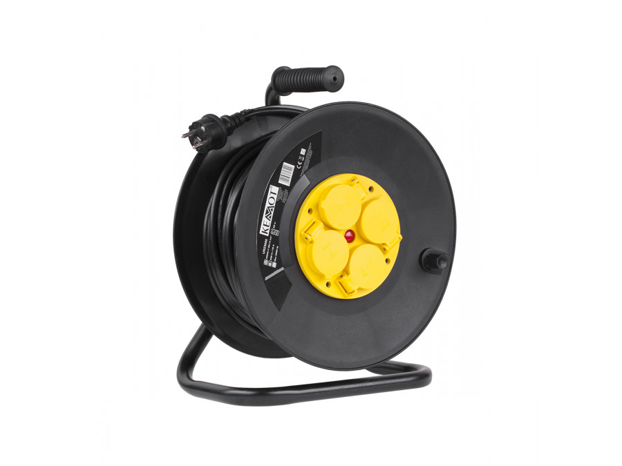 Przedłużacz sieciowy 4 gniazda, 25m 250V AC, 50Hz, 16A(max), 3.5KWat(max) Przewód: 3 x 1,5mm2