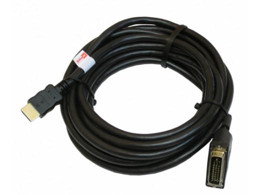 Przewód DVI-HDMI 5m gold v1.3b