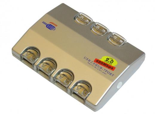 Hub USB 7 portów z zasilaczem