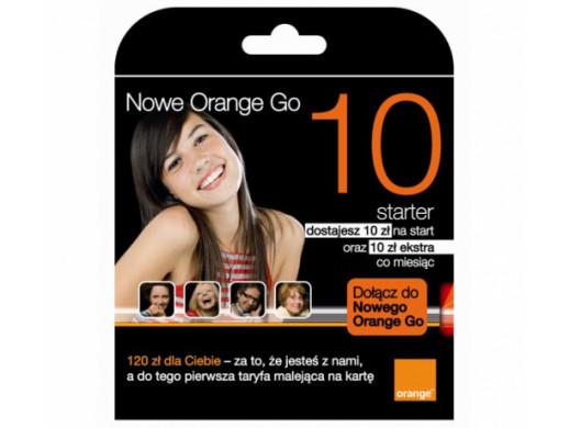 Zestaw startowy orange Go 10