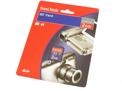 Karta pamięci 2Gb SD SanDisk
