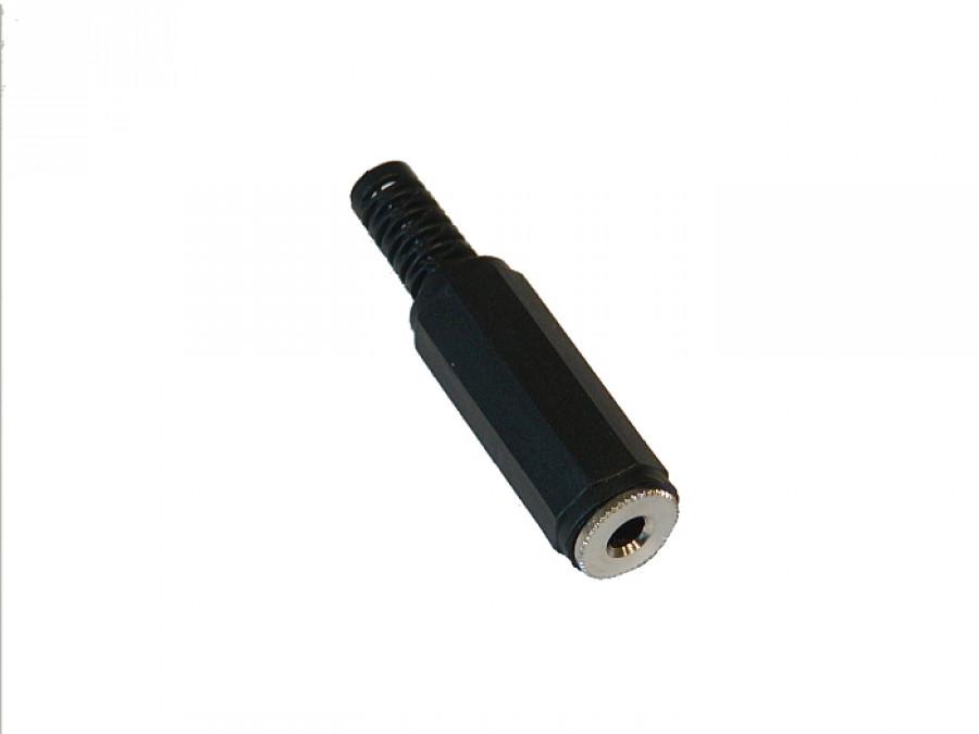 Gniazdo jack 3,5mm stereo plastik na kabel