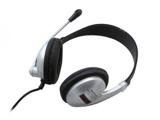 Słuchawki z mikrofonem SK-303 Sy-450MV