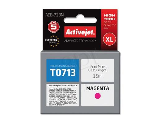 Tusz Epson T0713 AEB-713 15ml Magenta Stylus D78, D92, D120, DX4000, DX4050, DX4400, DX4450, DX5000, DX5050, DX6000, DX6050, DX