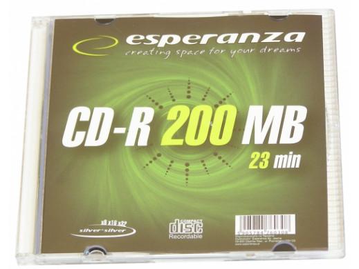 Płyta CD-R Mini Disc Esperanza 200mb 23min 8cm w pudełku